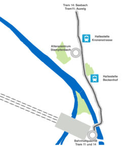 Lageplan Alterszentrum Stampfenbach