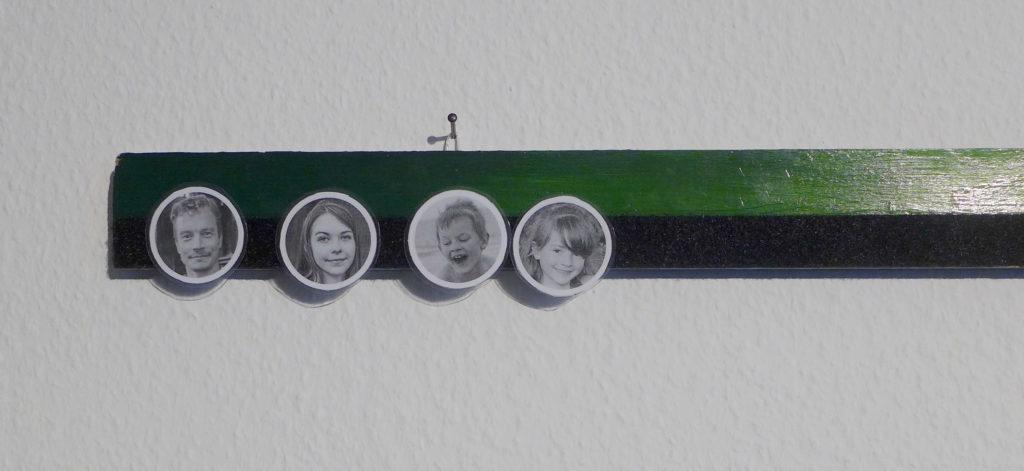 Familienbarometer mit Klettstreifen